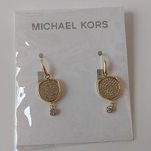 Michael Kors Beyond Brilliant Gold Pavé Earrings